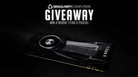 Win NVIDIA Titan X Pascal graphics card - Singularity Computers