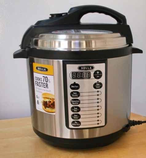 Bella 6 Qt Pressure Cooker Giveaway - Made In A Pinch