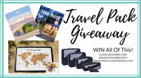 Travel Pack December Giveaway - Mikayla Jane Travels