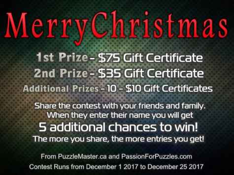 $75 Puzzlemaster.ca Gift Certificate Giveaway - Passion for Puzzles