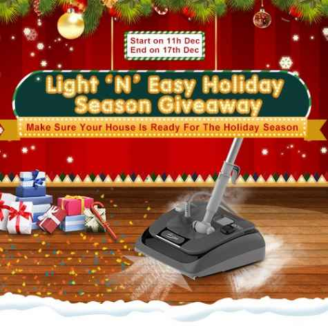 Win a 2-in-1 Vacuum & Steam Mop - Light 'N' Easy