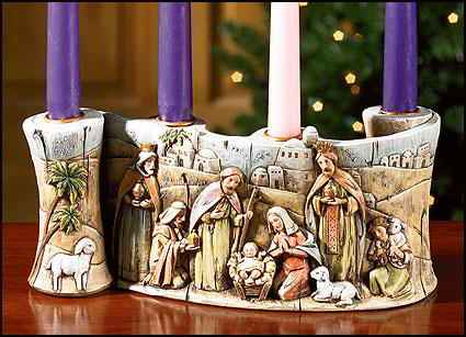 Nativity Advent Candleholder Giveaway - The Scripture Garden