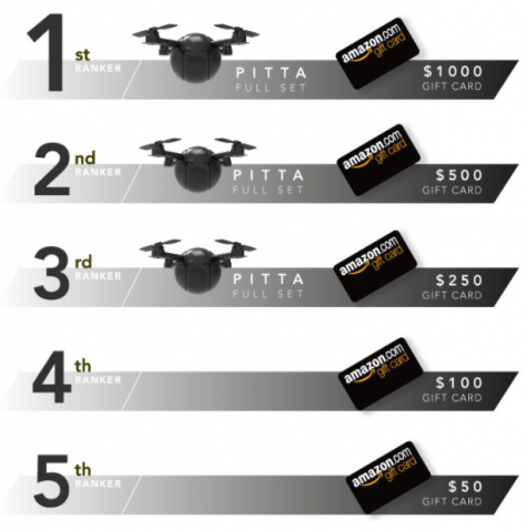 1000$+DRONE 500$+DRONE 250$+DRONE 100$ 50$ TO BE WON!!! - PITTA Drone with Magnetic Snap & Twist to Lock