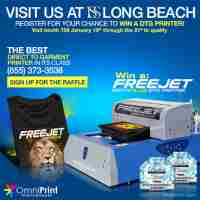 Win a new FreeJet 330TX PLUS direct to garment printer - OmniPrint International