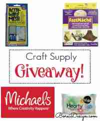 Craft Supply Bundle and Michaels Gift Card Giveaway - Free Paper Mache Bird Tutorial - Borei Design