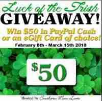 Win $50 in Paypal Cash or an eGift Card in the Luck of the Irish Giveaway! - Southern Mom Loves