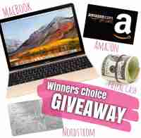 Winner's Choice Giveaway for a Macbook Air $900 GC or $800 PP Cash - It's Our Fab Fash Life