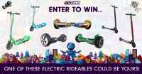 Free Hoverboard or electric scooter giveaway from GOTRAX - GOTRAX
