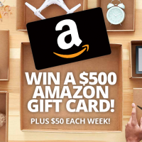 Win a $50 or $500 Amazon Gift Card - Black Flag Deals