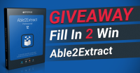 Giveaway: Fill In 2 Win Able2Extract Professional 12 - Investintech.com, Inc.