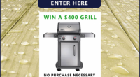 Win a $400 Weber Grill - Treated Wood