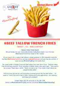 #BeefTallowFrenchFries Tweet-to-Win Contest - The Coast Packing Company