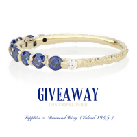 Win a custom made Sapphire and Diamond Ring  Retailed at $945 - TERNYC