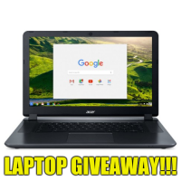 Acer chromebook 15 Laptop giveaway - Lucky Bear