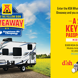 behind your sign camper giveaway - KOA