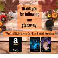 Win a $25 Amazon Gift Card & 2 eBooks - KJ Waters
