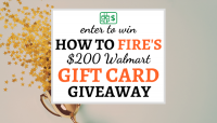 $200 Walmart Holiday Gift Card Giveaway - How To FIRE
