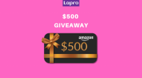 Giveaway: $500 Amazon Gift Card from Lapro - Lapro