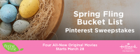 Hallmark Channels SPRING FLING BUCKET LIST Pinterest Sweepstakes - Hallmark Channel