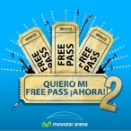 Movistar Arena Concurso Free Pass - www.movistararena.cl