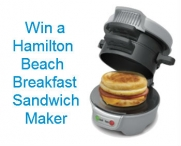 Hamilton Beach Breakfast Sandwich Maker Sweepstakes - www.prizily.com