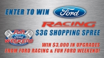 2013 Ford RacingFun Ford Weekend $3G Shopping Spree - funfordweekend.com