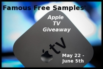 Apple TV Giveaway - www.famousfreesamples.com