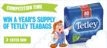 Win a year's supply of Tetley tea! - www.myfamilyclub.co.uk