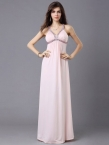Pink Spaghetti Strap Beaded A-line Evening Quinceanera dress BD1010 - www.promdressonlineshop.co.uk