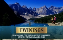 How would you like to jet off to Alberta home of the Canadian Rockies - twinings.co.uk