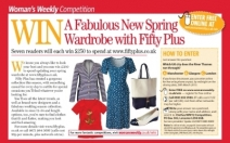 Win £250 to spend at Fifty Plus  7 prizes - comps.womansweekly.co.uk