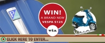 Win a brand new Vespa S125 with VIA! - www.viasheffield.co.uk