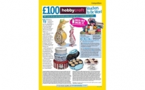 Win £100 worth of Hobbycraft Vouchers to be won  10 prizes! - comps.womansweekly.co.uk